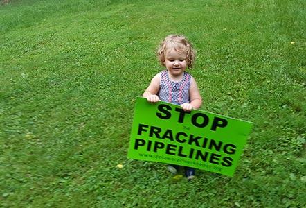 stop fracking pipelines little girl